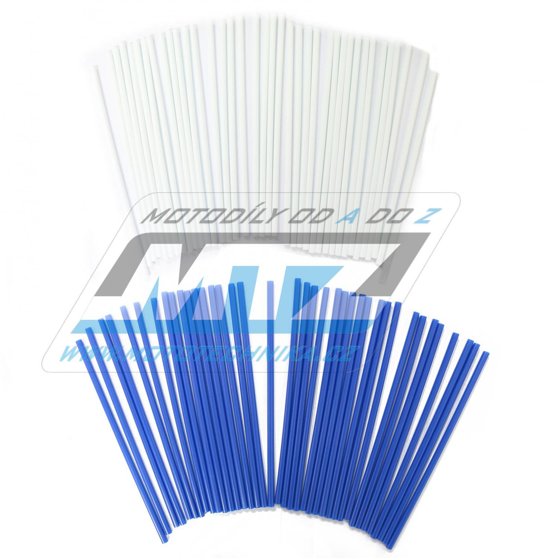Návleky na dráty / kryty drátů (1sada) - bílo-modré