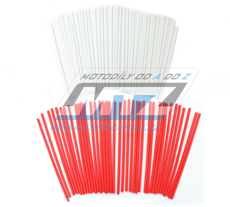 Návleky na dráty / kryty drátů (1sada) - bílo-červené