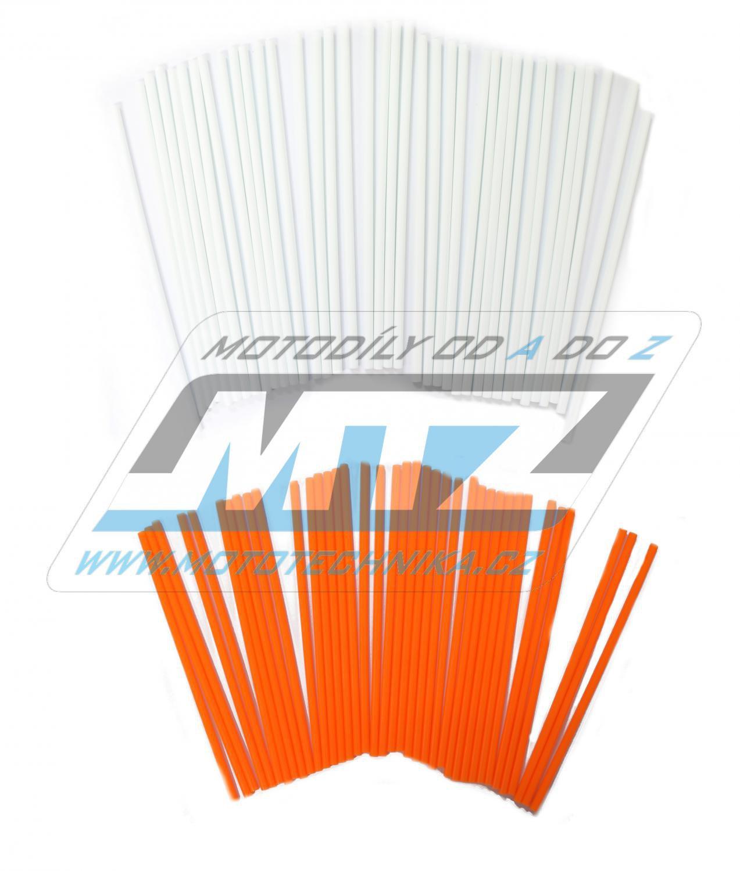 Návleky na dráty / kryty drátů (1sada) - bílo-oranžové