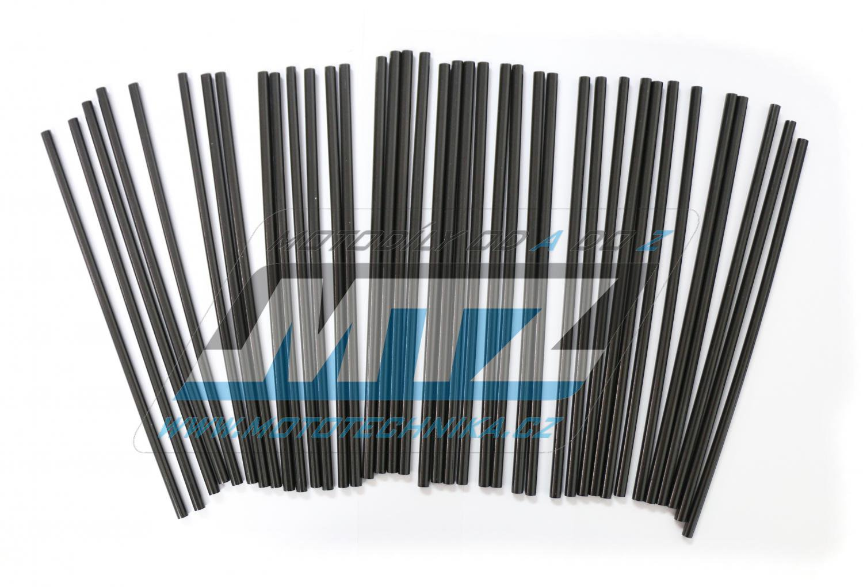 Návleky na dráty / kryty drátů (1sada) - černé