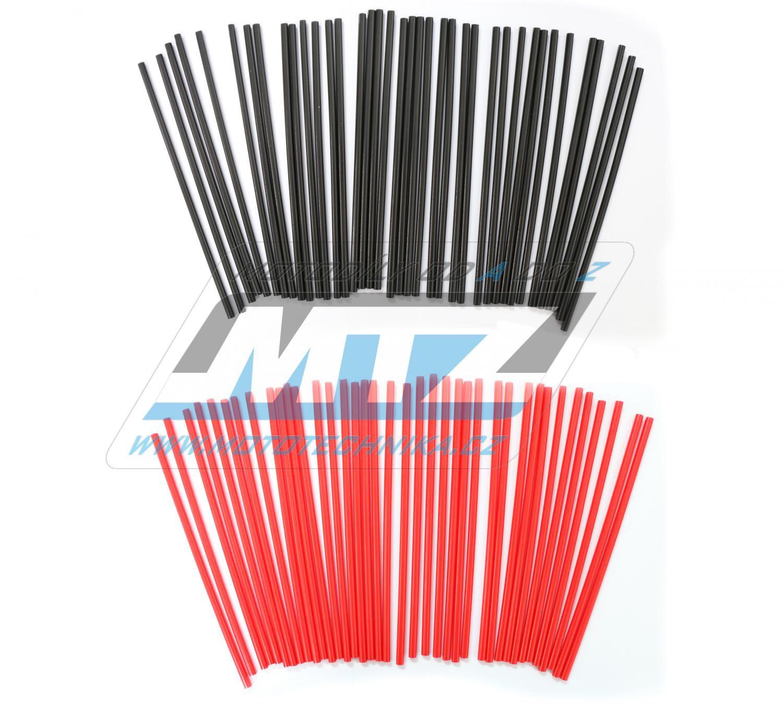 Návleky na dráty / kryty drátů (1sada) - černo-červené