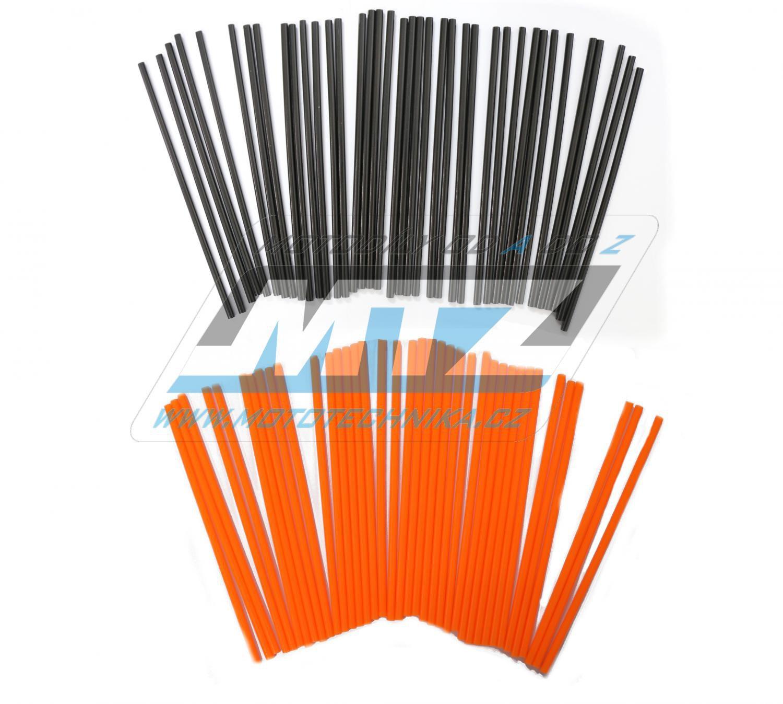 Návleky na dráty / kryty drátů (1sada) - černo-oranžové