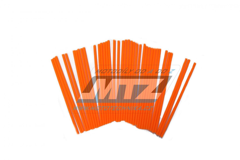 Návleky na dráty / kryty drátů (1sada) - oranžové