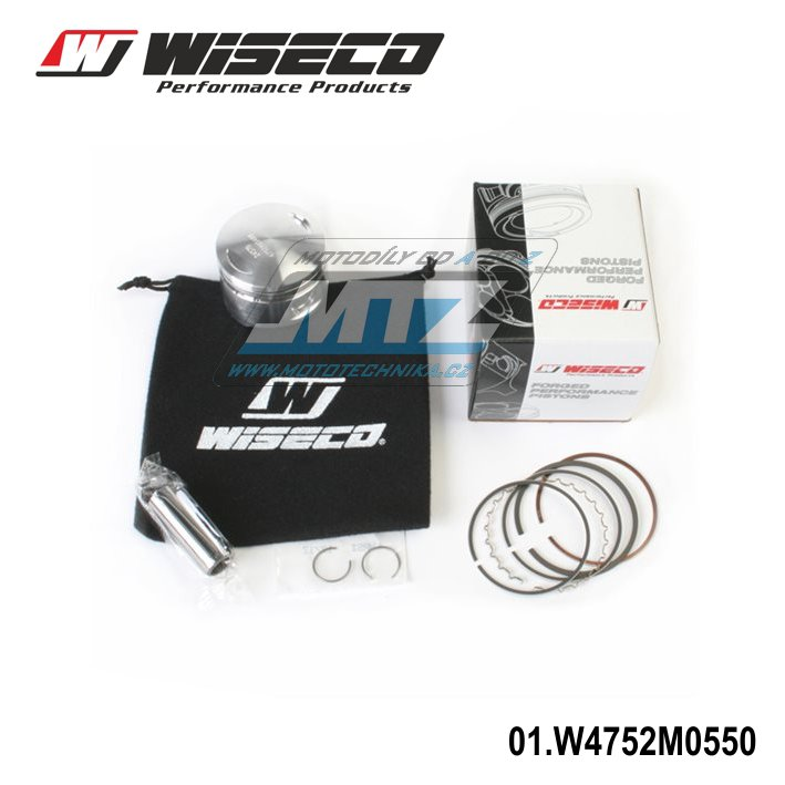 Píst Yamaha TTR125 / 00-16 + XT125R + XT125X / 00-16 + YBR125 / 00-09 + Derbi 125 Senda / DRD + Rieju 125 Marathon / SM PRO - pro vrtání 55,00mm