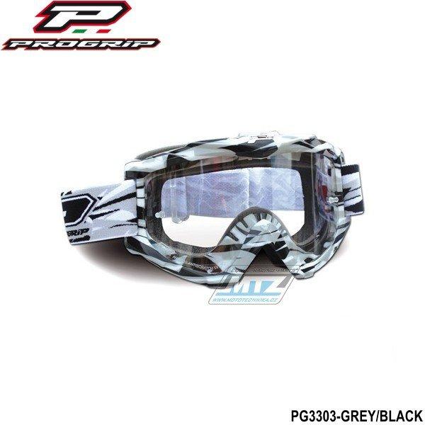 "Brýle Progrip 3303 ""GREY/BLACK"