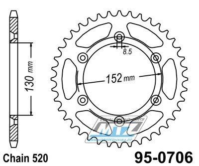 Rozeta ocelová MTZ - 0706-48zubov