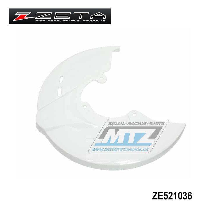 Kryt předního brzdového kotouče ZETA RACE - bílý