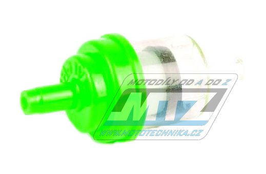 """Filtr palivový/benzínový - průměr 1/4"""" (6mm) - plastový - zelený"""