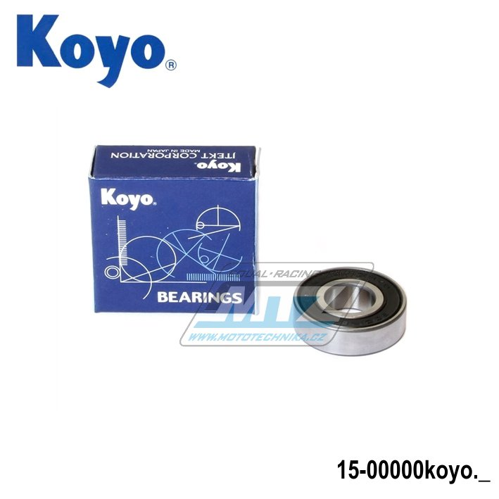 Ložisko 6001-2RS (rozměry: 12x28x8 mm) Koyo
