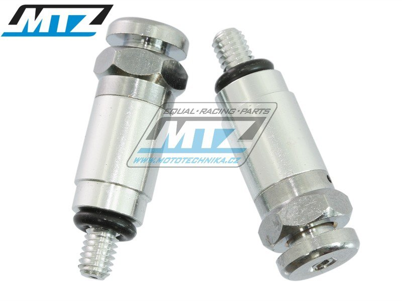Ventilky odvzdušňovací WHITE POWER / MARZOCCHI / SACHS (závit M4) - stříbrné