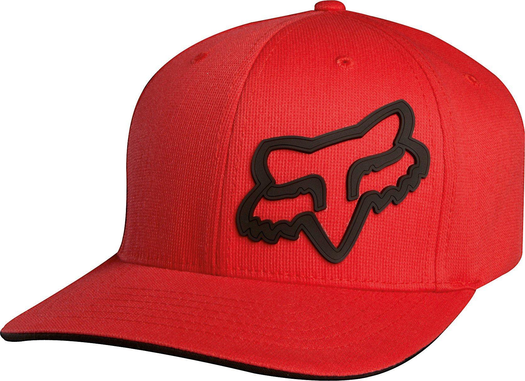 Čepice/Kšiltovka FOX Flexfit Signature červená