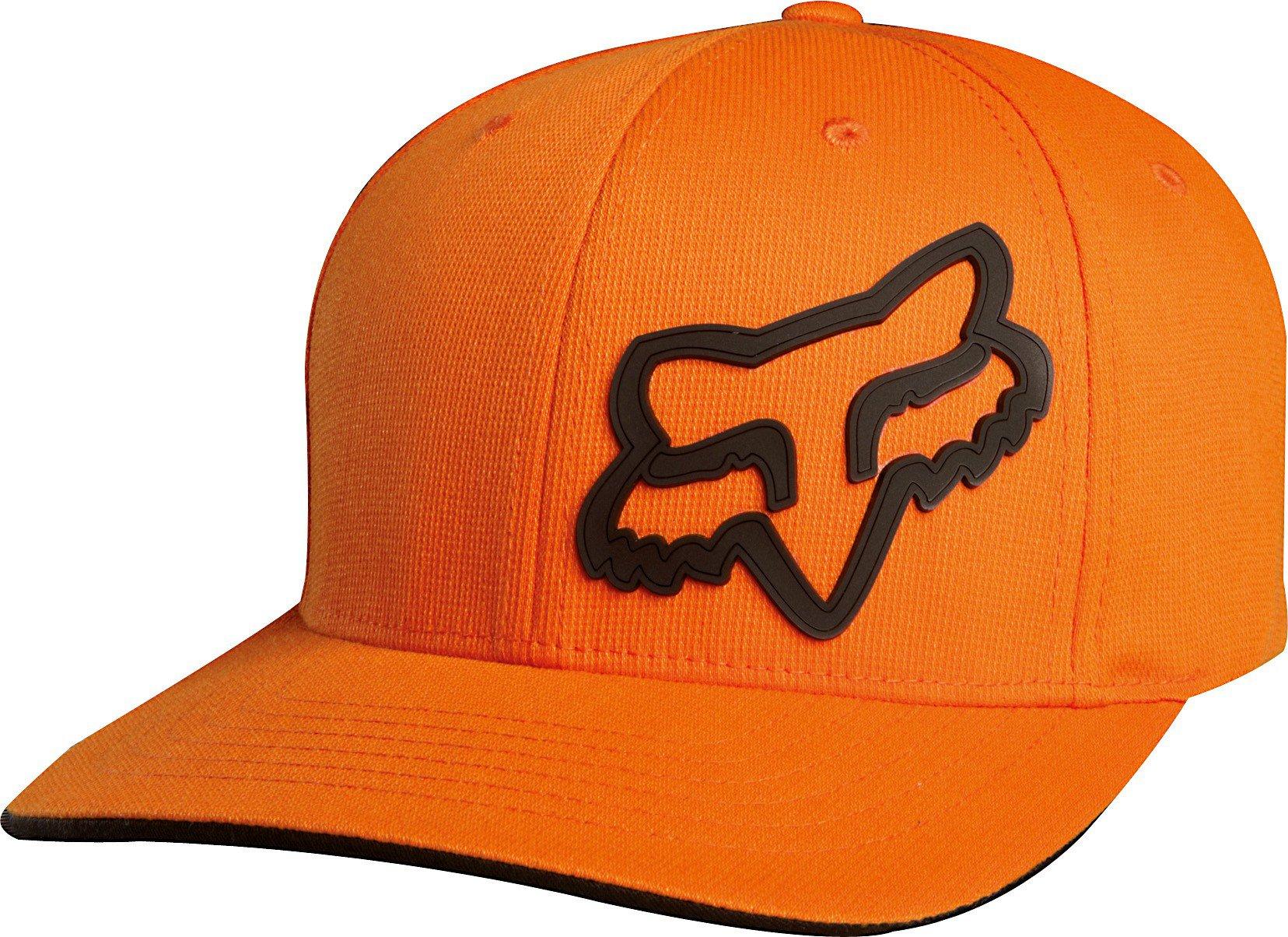 Čepice/Kšiltovka FOX Flexfit Signature oranžová
