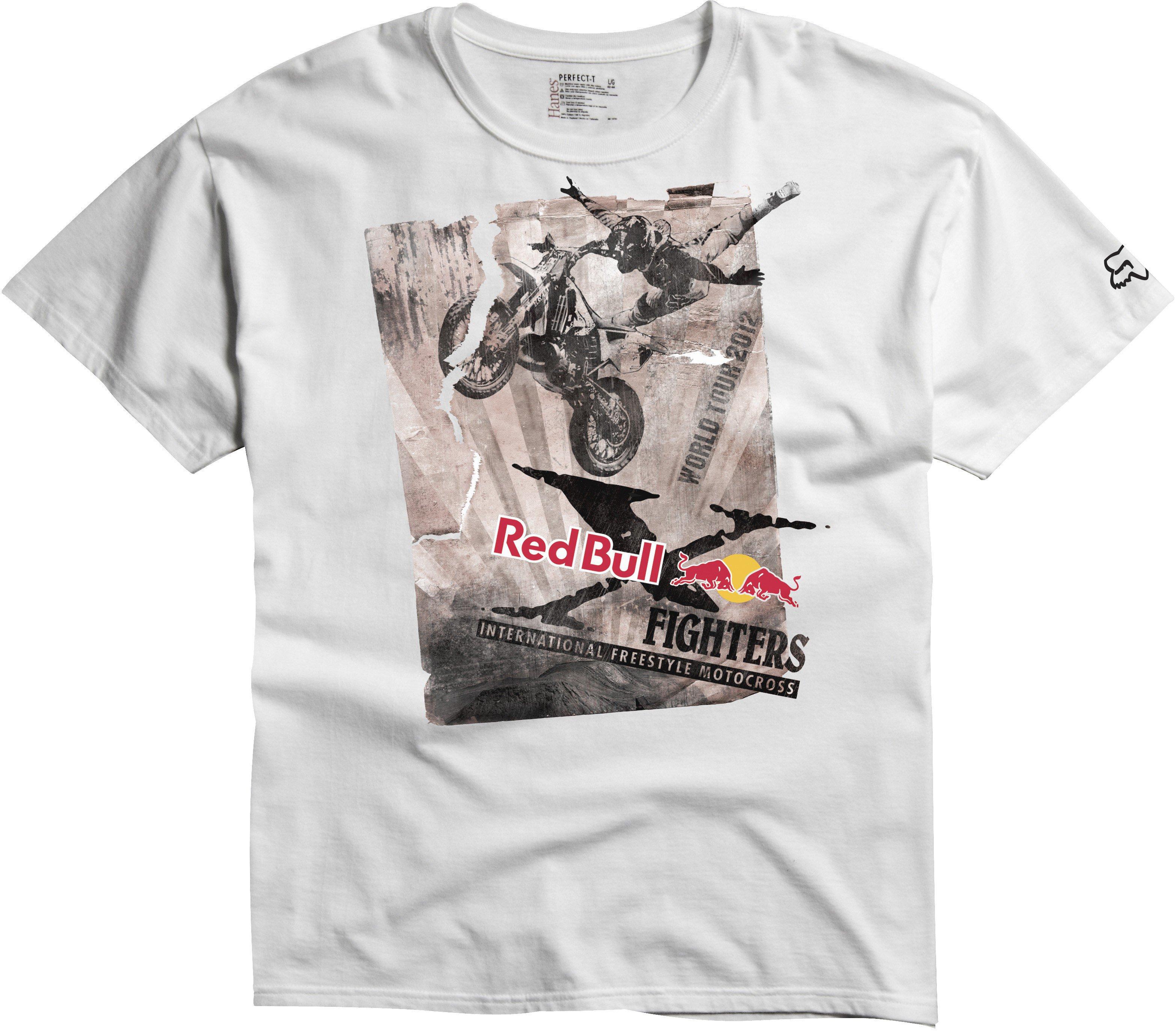 Tričko pánské FOX Red Bull Posterized Tour bílé velkost M