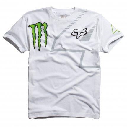 403286d2d3e1 Tričko pánské FOX Monster bílé