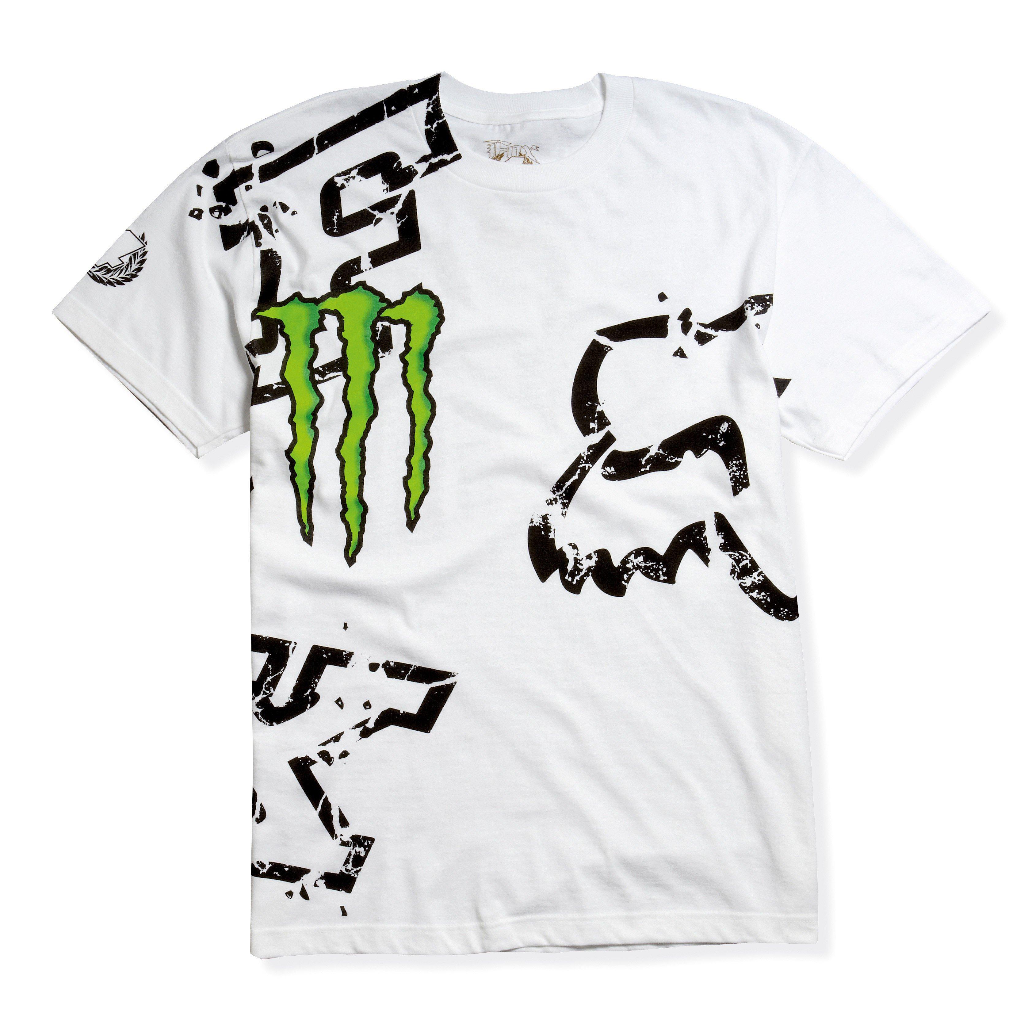 Tričko pánské FOX Monster Downfall bílé - velikost L