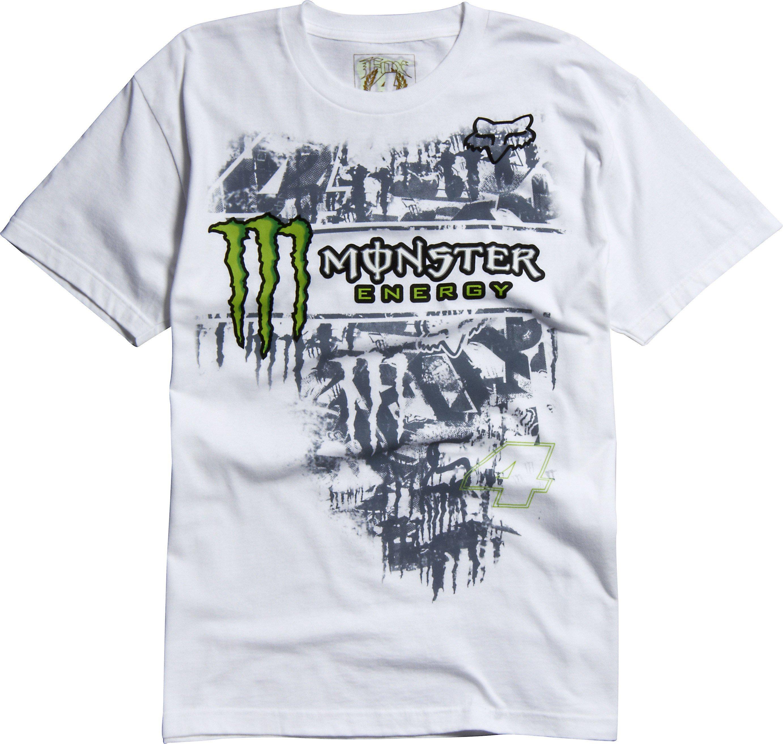 Tričko pánské FOX Monster RC Replica bílé - velikost M