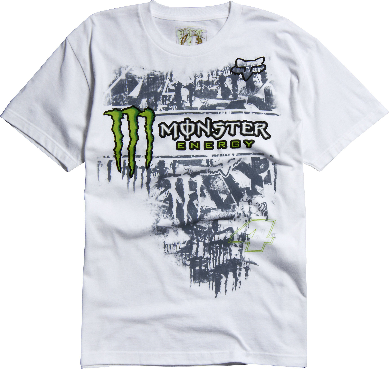00e1ca7e2a0c Tričko pánské FOX Monster RC Replica bílé - velikost XL