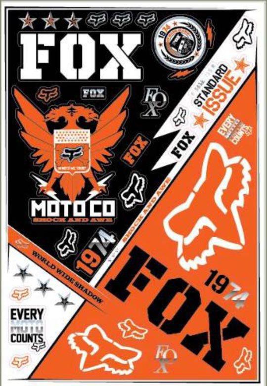 Samolepky FOX Covert II