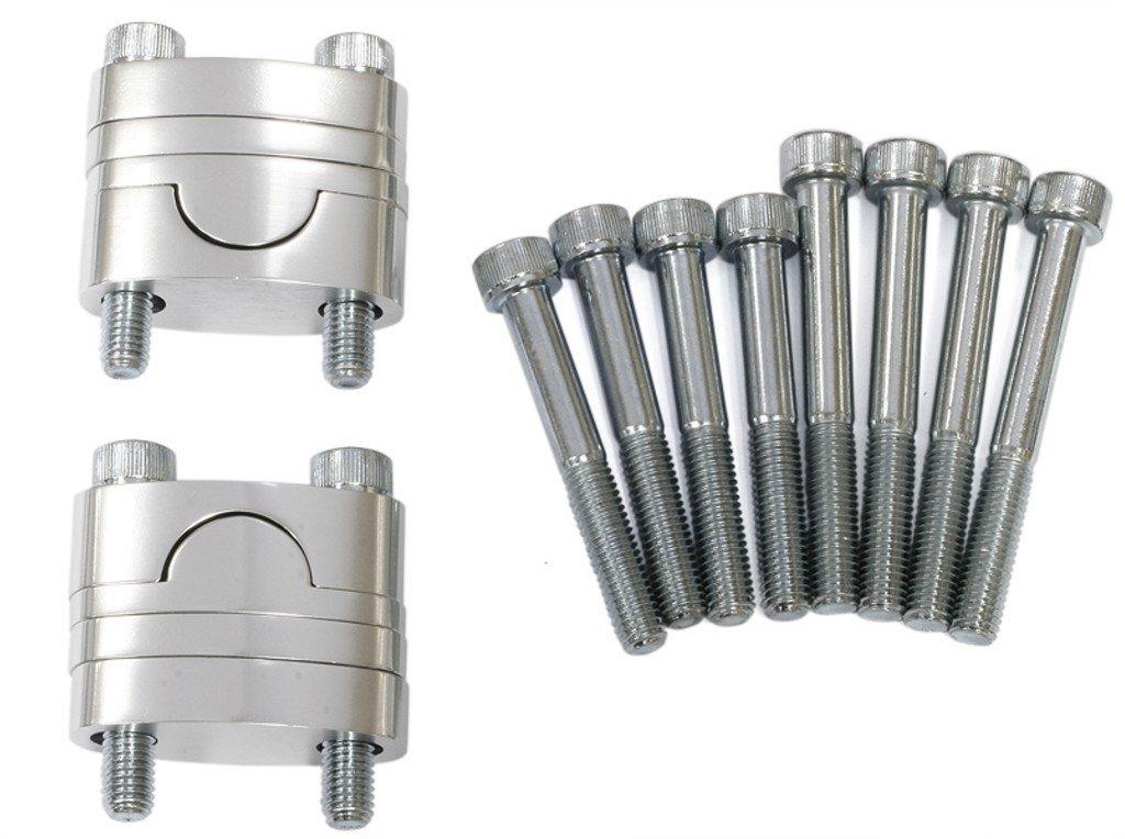 Sada vyvýšení řidítek (průměr 28,6mm) včetně šroubů (barva stříbrná)