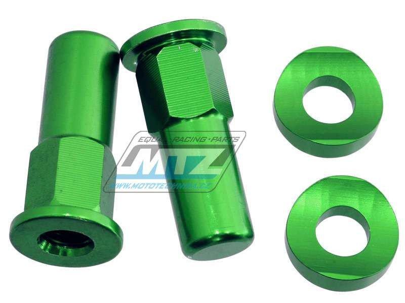 Matice+Podložky haltru Alu (sada na 2kola) - zelené