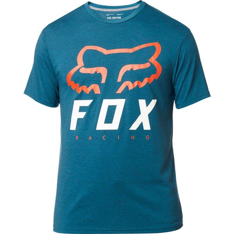 Tričko FOX Heritage Forger Tech Tee Heather Midnight Blue - velikost XXL