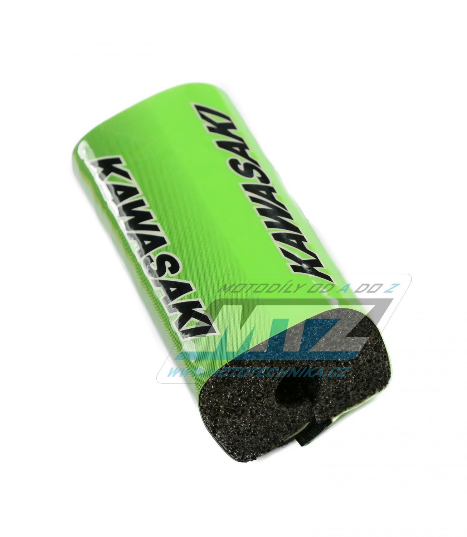 Polstr/Kostka na bezhrazdová řidítka Kawasaki (zelený)