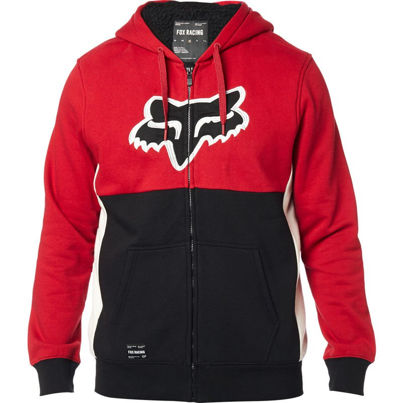 Mikina zateplená FOX Rebound Sherpa Fleece Black/Red - velikost XXL