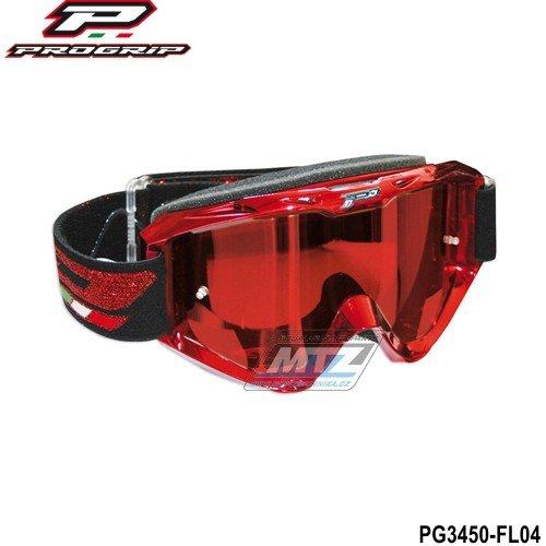 Brýle Progrip 3450-FLASH červené