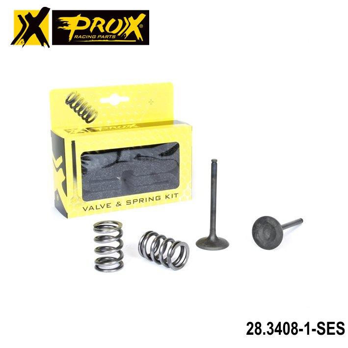 Ventily výfukové nerezové Suzuki RMZ450 / 08-18 + RMX450Z / 10-18 (sada 2ventily + 2pružiny)