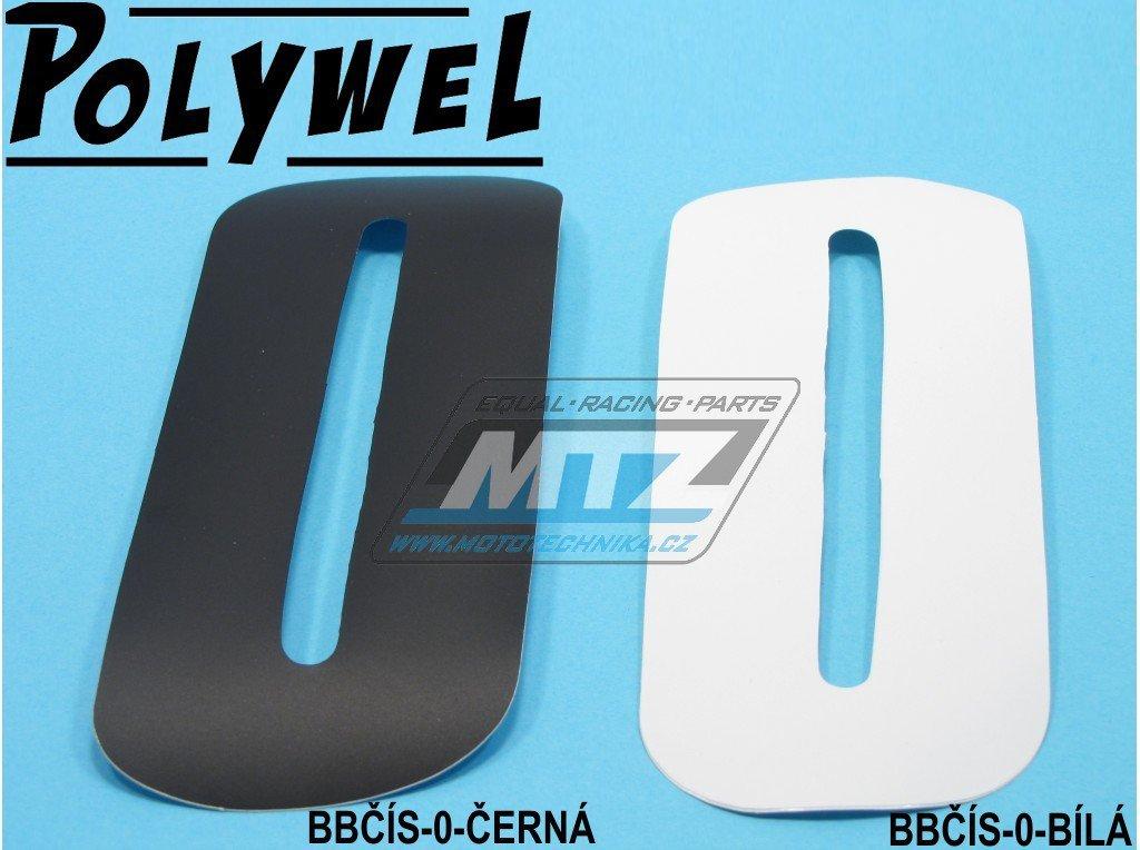 Číslo MX - 0 (150x60mm) bílá