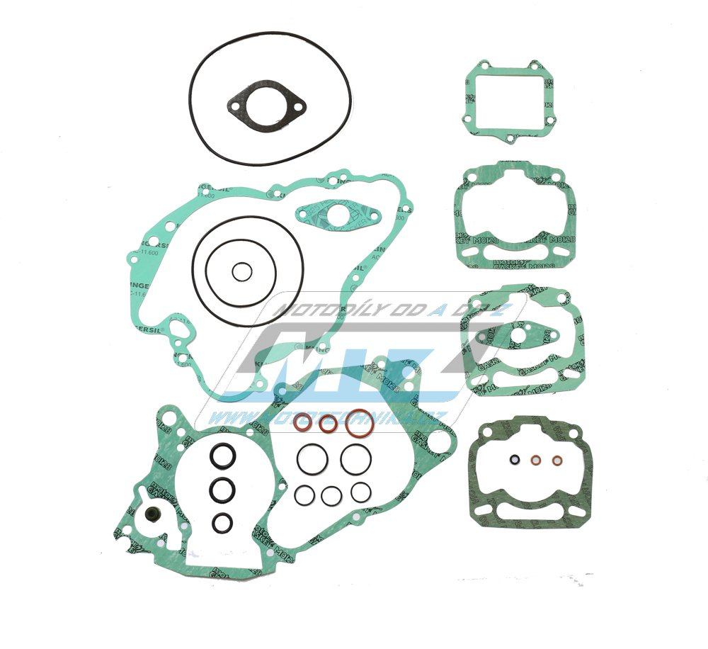 Těsnění kompletní motor Aprilia MX125 + RS125 + RX125 + Replica + Classic / 95-10 + další s motocykly s motorem Rotax 122
