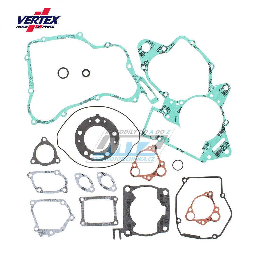 Těsnění kompletní motor (včetně gufer motoru) KTM520 + KTM525 EXC + KTM525 SX / 00-07 + KTM450 SX-Racing / 03-06 + KTM525 SMR / 04-06