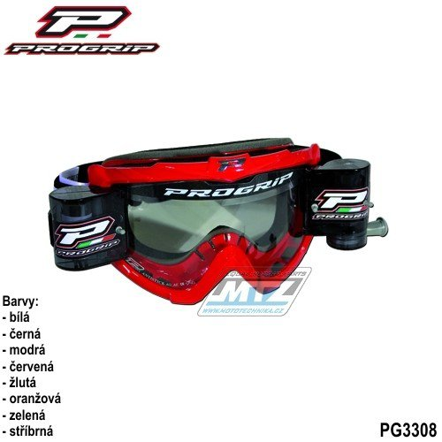Brýle Progrip Roll-Off XL čern