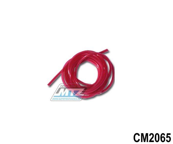 """Hadice palivová 1/4"""" (¤6mm) x 1metr - červená"""