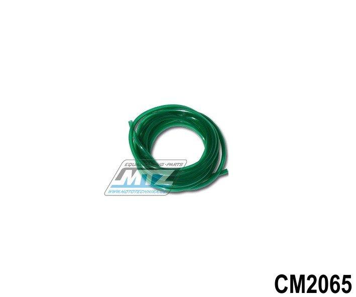 """Hadice palivová 1/4"""" (¤6mm) x 1metr - zelená"""