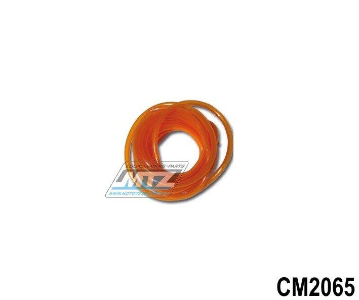 """Hadice palivová 1/4"""" (¤6mm) x 1metr - oranžová"""
