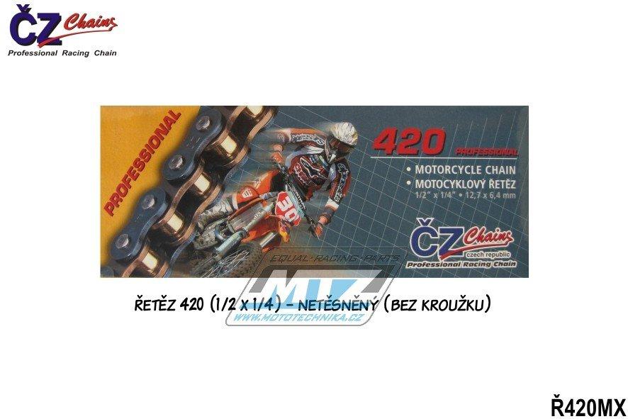 Řetěz ČZ 420 MX (130článků) zlatý