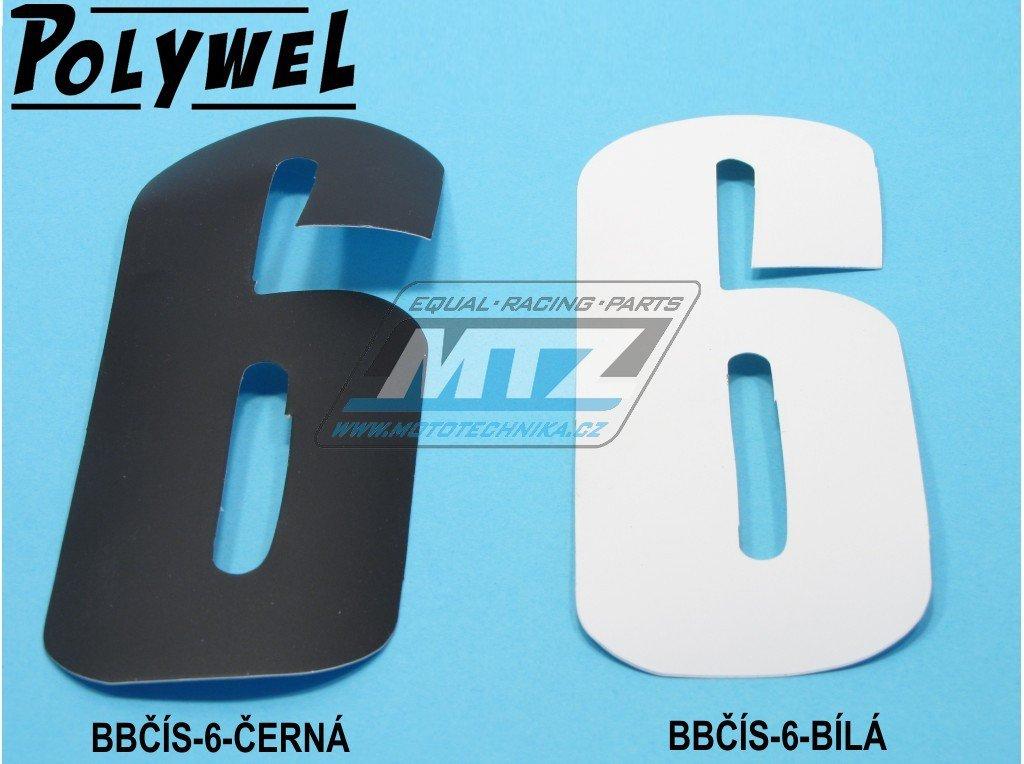 Číslo MX - 6/9 (150x60mm) bílá