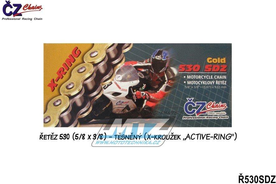 Řetěz ČZ 530 SDZ (122 článků) zlatý