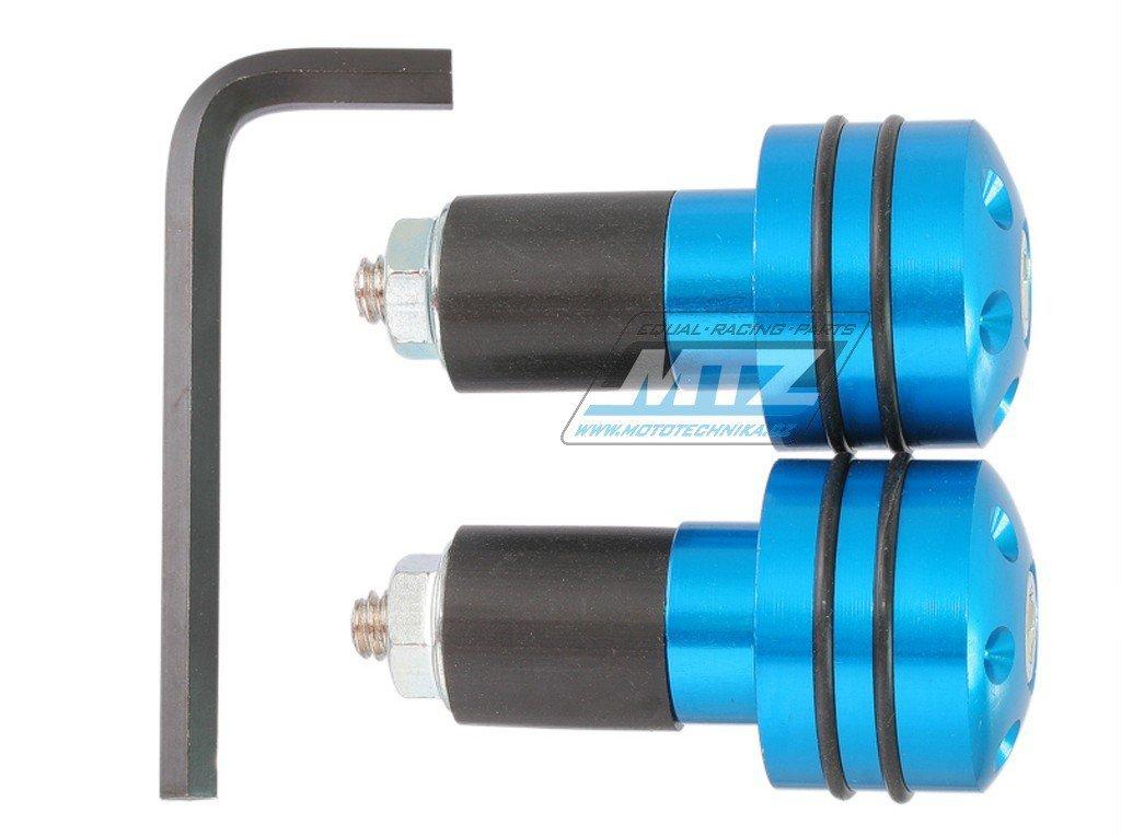 Koncovky/závaží řidítek RUBBER - modré (pro vnitřní průměr řidítek ¤17mm)