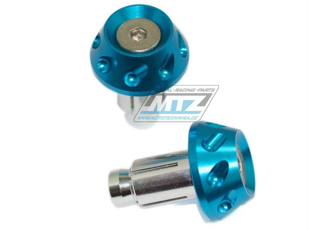 Koncovky/závaží řidítek 2IN1 - modré (pro vnitřní průměr řidítek ¤13/¤17mm)