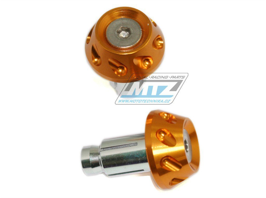Závaží/Koncovky řidítek 2in1 - barva zlatá (13/17mm)
