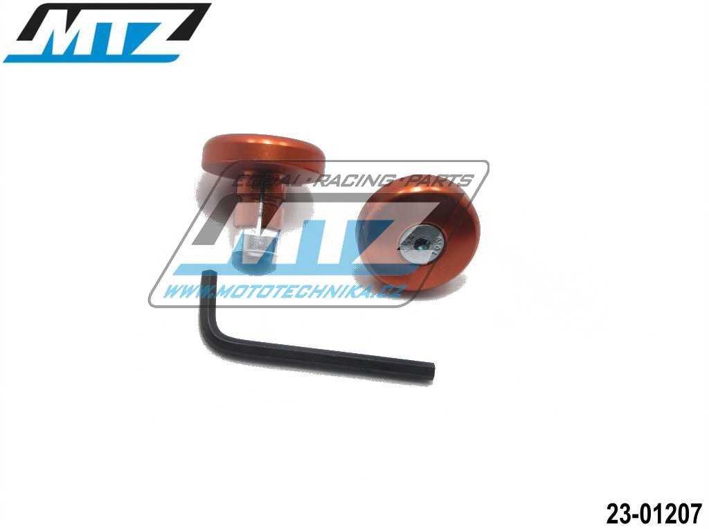 Koncovky/závaží řidítek THIN - oranžové (pro vnitřní průměr řidítek ¤13/¤17mm)