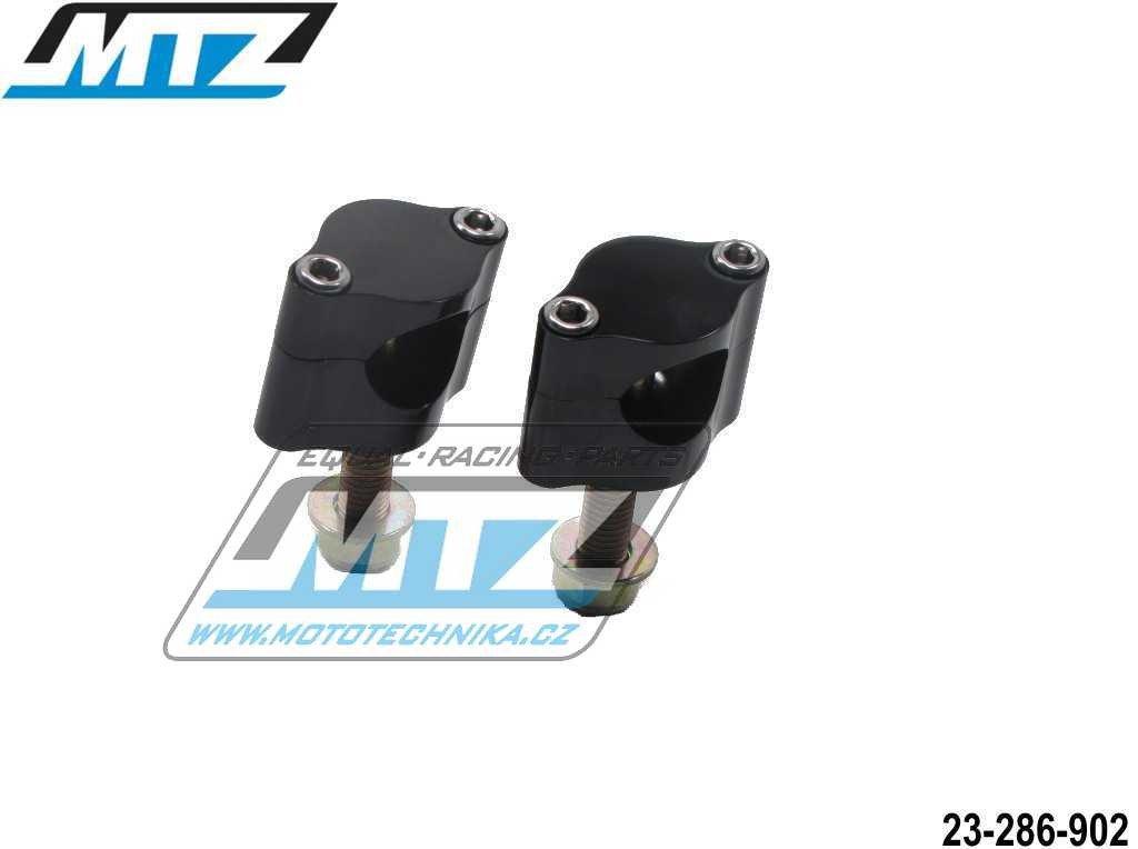 Klemy řidítek - pro řidítka 28,6mm (hlavní šroub - 12mm) - barva černá