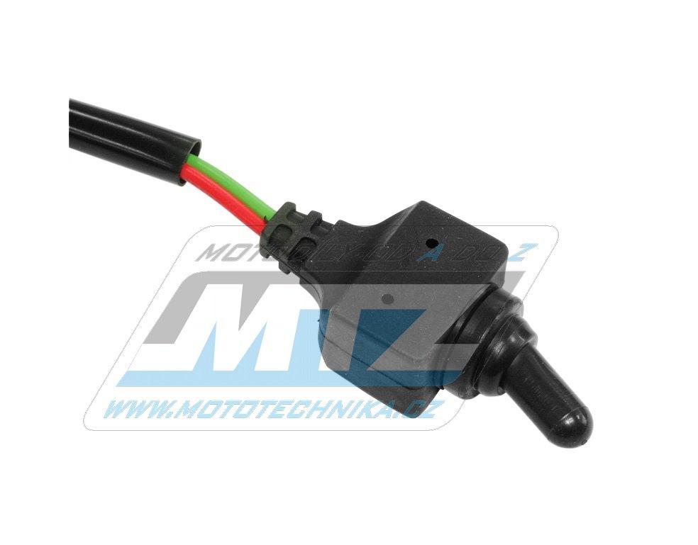 Přepínač páčkový vodotěsný 12V/10A s konektory