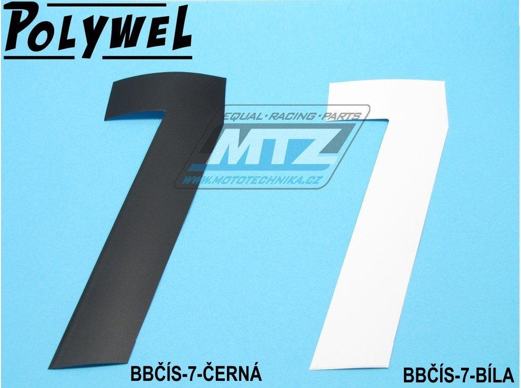 Číslo MX - 7 (150x60mm) bílá