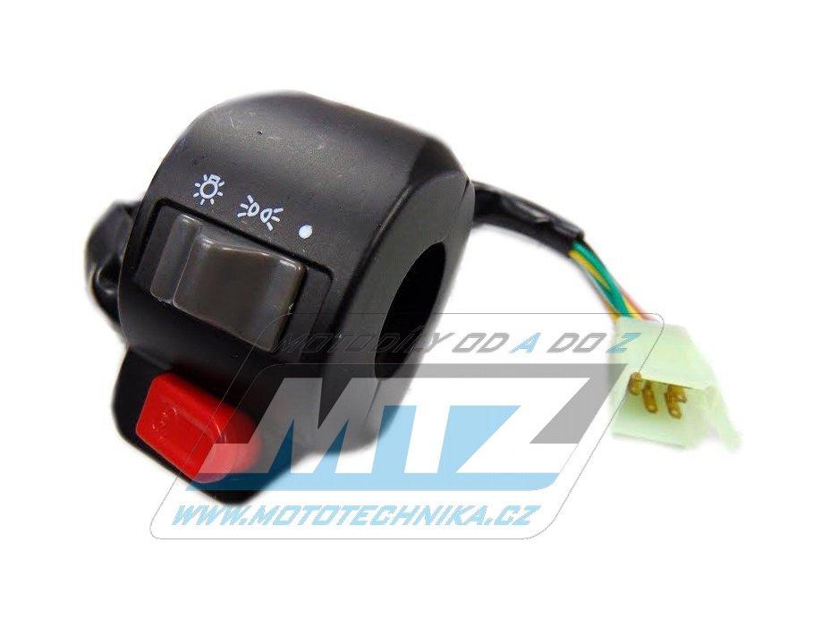 Přepínač sdružený světel+startér/chcípák + závit M8 na zrcátko - univerzální použití