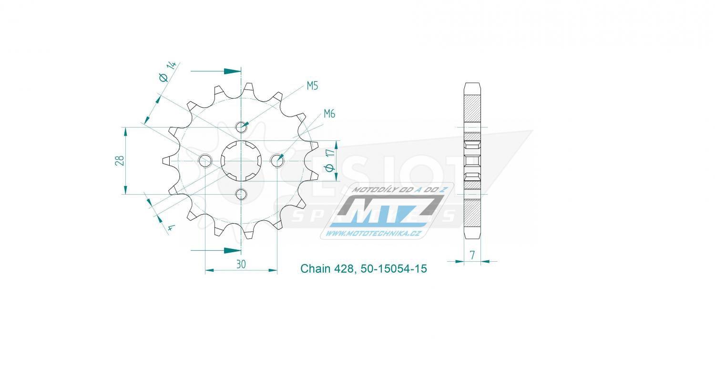 Kolečko řetězové 50-15054-15 ESJOT