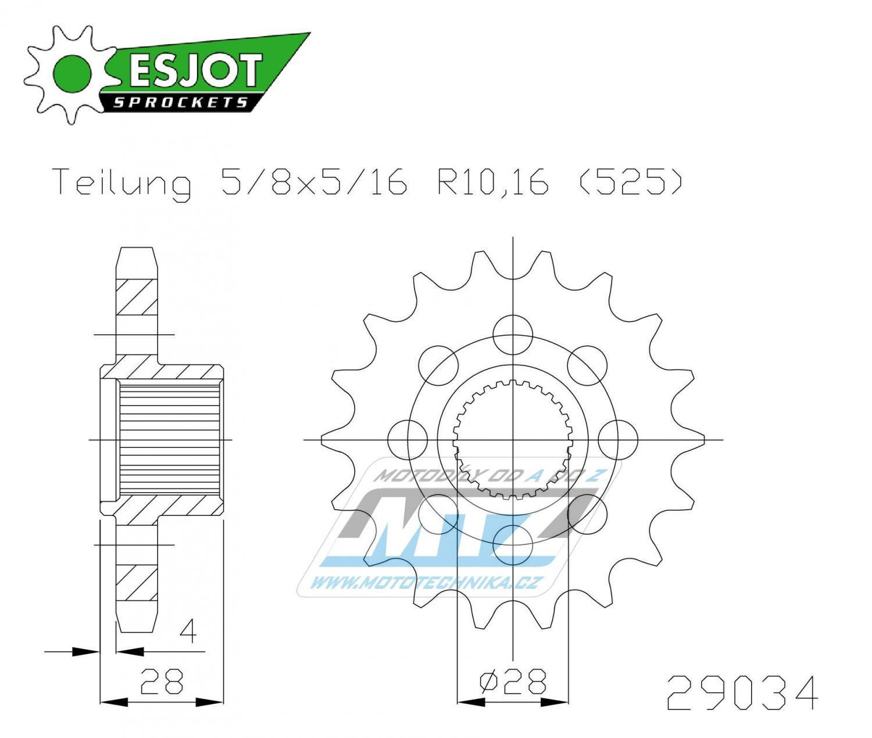 Kolečko řetězové 50-29034-18 ESJOT