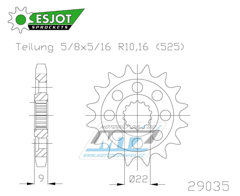 Kolečko řetězové 50-29035-16 ESJOT